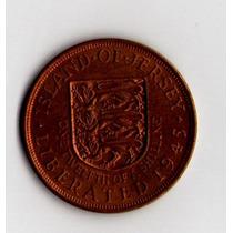 Jersey - Liberada -1/12 Shilling 1945 -cobre-jorge Vi-km19