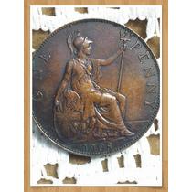 Moneda Inglaterra One Penny 1908 Ref P 16 -3
