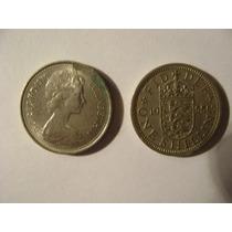 Dos Monedas Antiguas De Gran Bretaña