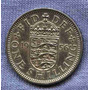 Inglaterra 1 Shilling 1956 * Escudo Ingles * Elisabeth Ii *