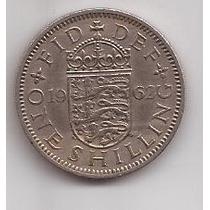 Gran Bretaña Moneda 1 Shilling Año 1962 !!