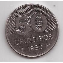 Brasil Moneda De 50 Cruzeiros Año 1982 !!