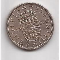 Gran Bretaña Moneda De 1 Shilling Año 1963 !!!!