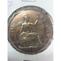 Moneda Inglaterra One Penny 1937 Ref Cómo 26