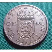 Gran Bretaña 1 Shilling 1966 - Por Cap Y Pcia.