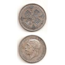 Moneda Inglaterra 1 Florin 1936 De Plata