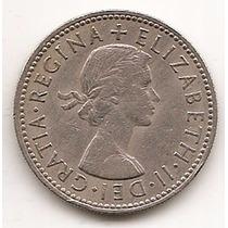 Moneda Gran Bretaña Inglaterra 1 Shilling Año 1954