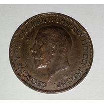 Moneda One Penny 1936 Cobre Gran Betraña 30mm