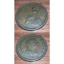 Moneda Inglaterra 1 Penny 1807 Rara Invasiones Inglesas Exc