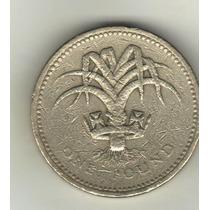 Gran Bretaña Moneda De 1 Libra Año 1985 Km 941