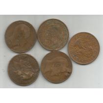 Gran Bretaña Lote De 5 Monedas De One Penny