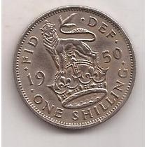 Gran Bretaña Moneda 1 Shilling Año 1950