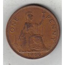 Gran Bretaña Moneda De 1 Penny Año 1966 Excelente !!