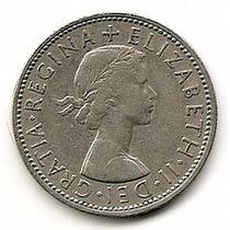 Inglaterra Moneda De Niquel 1florin (two Shilling) Año 1965