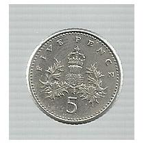 Inglaterra 5 Pence 1990