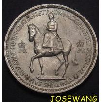 Crown, Moneda De Gran Bretaña Del Año1953 Unico S/c