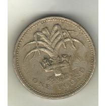 Gran Bretaña Moneda De 1 Libra Año 1990 Km 941