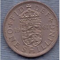 Inglaterra 1 Shilling 1961 * Escudo Ingles * Elizabeth Ii *