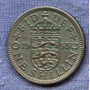 Inglaterra 1 Shilling 1955 * Escudo Ingles * Elizabeth Ii *