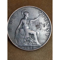 Moneda Inglaterra Penny 1905 Ref P14-19