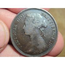 Moneda Inglaterra Half Penny 1879 Uk / Ref (a 32)