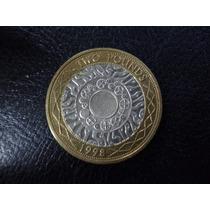 Inglaterra Moneda Bimetalica Elizabeth I I 2 Libras 1998
