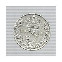 Inglaterra 3 Pence 1913 Plata