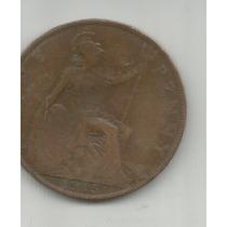Gran Bretaña Moneda De Un Penny De 1915