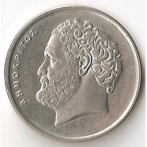 Grecia, 10 Drachmes, 1984. Sin Circular