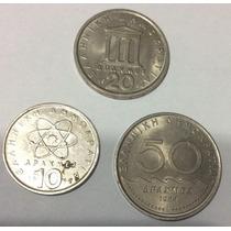 Lote 3 Monedas Griegas 10, 20 Y 50 Dracmas