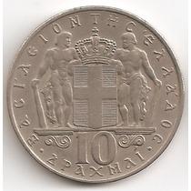 Grecia, 10 Drachmai, 1968. Xf+