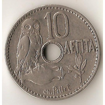 Grecia, 10 Lepta, 1912. Xf