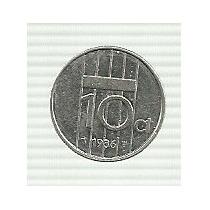 Holanda 10 Centavos 1986