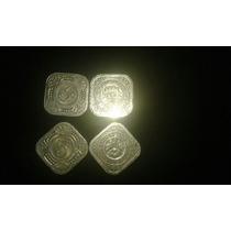 Lote De 4 Monedas Paises Bajos De 5 Ctvs En Exc.estado