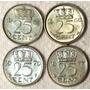 Holanda 5 Monedas 25 Cents (km 183) 1 Gulden (km184a)