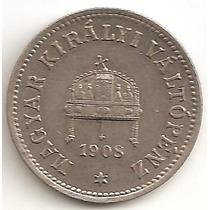 Hungria, 10 Filler, 1908. Xf