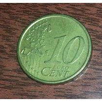 Moneda Italia 10 Cent Euro Año 2002