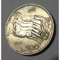 Moneda 500 Liras Italia. Plata