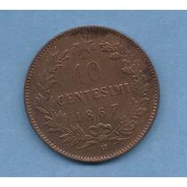 Italia Moneda De 10 Centesimi Del Año 1867 - Km#11.3