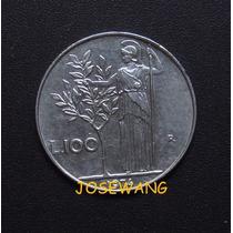 100 Lire, Moneda De Italiana Del Año 1974