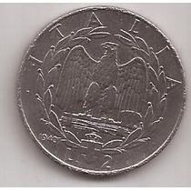 Italia Antigua Moneda 2 Liras Año 1940