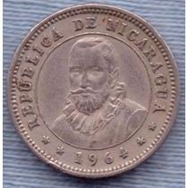 Nicaragua 5 Centavos De Cordoba 1964 * Francisco Hernandez *