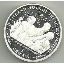 Isla De Ma 1 Crown Año 1999 Plata 28.28 Gr Plata