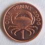 Guernsey 1 Penny 2006 - Brillante - Cangrejo