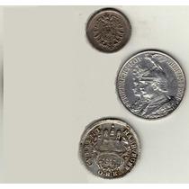 Antiguas Monedas De Alemania - 1762 /1875 / 1901 - Plata