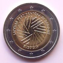 Letonia - Moneda 2 Euros 2015 - Presidencia Unión Europea