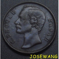 Cent, Moneda Antigua De Sarawak Del Año 1884