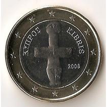Chipre, Euro, 2008. Bimetalica. Brillante Sin Circular