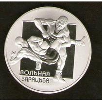 Bielorrusia Moneda Proof 1 Rublo 2003 - Lucha Libre