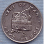 Isla De Man 5 Pence 1979 * Rueda Laxey *